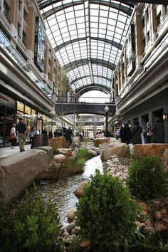 City Creek Mall in Salt Lake City. The roof can open and shut for good or bad weather.