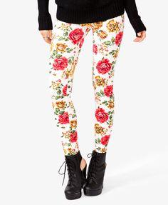 Floral print leggings!