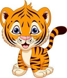 cute cartoon cheetah cute tiger cartoon stock vector clipart rh pinterest com tiger clip art images free tiger clipart black and white