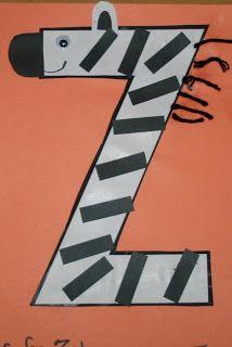 letter z crafts for preschool.to finish Nati's alphabet craft book before kindergarten starts Preschool Letter Crafts, Alphabet Letter Crafts, Abc Crafts, Preschool Projects, Alphabet Activities, Preschool Crafts, Letter Art, Letter Tracing, Zoo Phonics