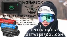Win 1 GNARBOX & 1 of 5 Contour Cameras + $250 via WiseFool! (GETWISEFOOL.COM) #WISEFOOL