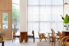 상업공간 전문 인테리어 - AROUND30 INTERIOR DESIGN Cafe Interior, Divider, Curtains, Room, Furniture, Home Decor, Cafe Interiors, Bedroom, Blinds