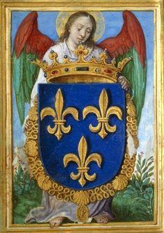 Armes de France (f°25v) -- «Livre de prières de François de France, duc d'Anjou», Anvers, Bol, Hans (1534-1593, enlumineur) [BNF Ms Latin 10564] -- See more at: http://images.bnf.fr/jsp/consulterCliche.jsp?numCliche=RC-A-15801