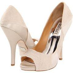 White Pleated Satin Heels