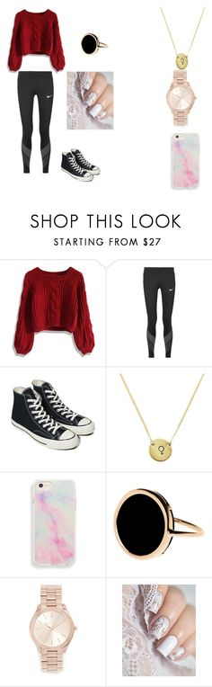 """""""At least I tried"""" by americus-love on Polyvore featuring Chicwish, NIKE, Converse, Ginette NY and Michael Kors"""