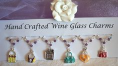 Handbag Wine Glass Charms - Teacher Gifts - New Home Gifts - Wine Glass Charms £9.99