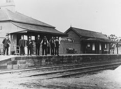 Rooty Hill Railway Station in western Sydney (year unknown). Opened in January 1862 closing 18 months later due to lack of patronage.By December 1864 there were sufficient passengers to justify the station's reopening. •Mount Druitt Historical Society•