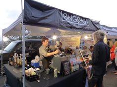 Longshot Coffee's stand at Yamashiro's farmers market