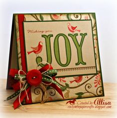 Rocky Mountain Paper Crafts: Merry Monday #36 (love the layered ribbons & twine)