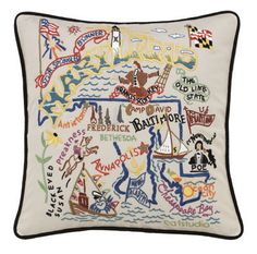 Maryland Pillow. I love this. I wonder if I can also find a Missouri & Connecticut one?
