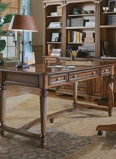 Accomplish all your important tasks in style at the Brookfield Writing Desk that features a rich cherry finish atop a solid hardwood construction.