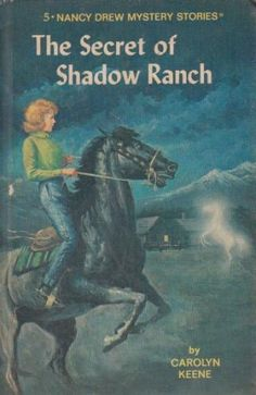 """""""The Secret of Shadow Ranch"""" Nancy Drew Mystery Recycled hardcover book JOURNAL! One of a kind, unrepeatable, and all yours/ your gift recipient's. All of our journals include some excerpts from the original book, whatever library ephemera is native to the book, and around 80-90 sheets of acid free, blank paper. Just $14. Click on this image to visit our site. Or click on this link: www.bookjournals.com Love, Jacob Ex Libris Anonymous, Portland, Oregon."""