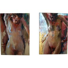 Sam Drukker, 1957. 'Standing Naked' #85 & #86. Offered by Oljos on RubyLUX.