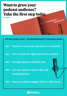 Want to start growing your podcast audience? Take the first step today with our downloadable checklist. #emailmarketing