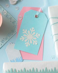 Make Your Own Gift Tags:   Make unique gift tags by cutting out designs or whole scenes using a decorative craft punch.