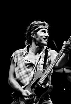Bruce Springseeng, 1984, Meadowlands Arena, New Jersey  foto di Steve Repport/ Rockarchive.com