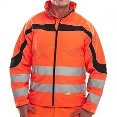 Beeswift Hi-Vis Eton Soft Shell Jacket Orange