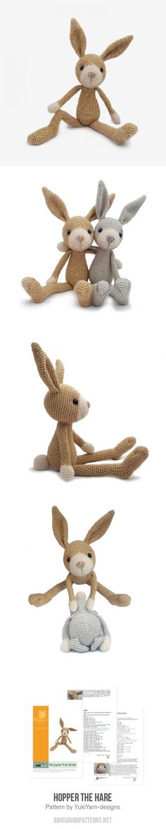 Hopper the Hare amigurumi pattern