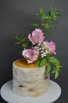 Parrot Tulip - Cake by JarkaSipkova Sugar Flowers, Cake Flowers, Beautiful Cakes, Amazing Cakes, Tulip Cake, Sculpted Cakes, Parrot Tulips, Flower Spray, Rustic Cake