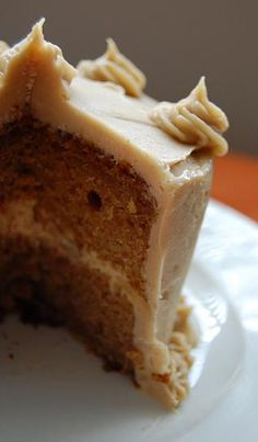 Pumpkin Butterscotch Cake - pumpkin cake with butterscotch walnut frosting! Now that's some good eats…