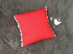 Items similar to Handmade Valentines Cushion - Red Cushion- White Pom Pom Trim - White Heart Print Pattern- Valentines Decor - Valentines Gift on Etsy Red Cushion Covers, Pom Pom Trim, Heart Patterns, Heart Print, Sally, Valentine Gifts, Cushions, Sew, Throw Pillows