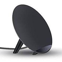 Yolike K10 Cargador Inalámbrico QI Portátil Doble Bobina Entrada 9V 1.67A / 5V 2A Salida 9V 1,2A / 5V 1A Potencia 10W QI Wireless Charger Stander para Samsung Galaxy S8, Samsung Galaxy S7 / S7 Edge, Samsung Galaxy S6, LG G3 etc