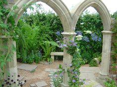 Through arches from a garden I designed    www.liberatingdivineconsciousness.com