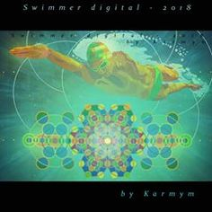Swimmer digital - digitally mastered version of acrylic painting 'Swimmer - by newageart Poster On, Poster Prints, Chakra Painting, Swimming Posters, Yin Yang Art, I Love Swimming, Cosmic Art, Water Art, Human Soul
