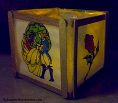 Beauty and the Beast Stained Glass Paper Lantern