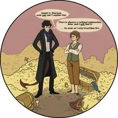 Awesome The Hobbit: The Desolation of Smaug Art Centering On Benedict Cumberbatch & Martin Freeman