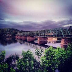 Gorgeous view of the New Hope-Lambertville Bridge captured by @bradleybomber on Instagram.