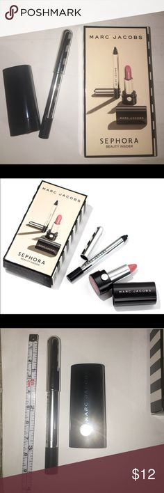 Marc Jacobs Sephora Birthday Gift Eyeliner Lip NEW Marc Jacobs 2 piece Beauty Insider for Sephora.  Happy Birthday set.  216 kiss kiss bang bang lip stick + Highliner gel eye liner crayon in black BLACQUER.  Perfect travel try me size items - new and never used from a smoke free home!  New in box.  This closet does NOT trade Marc Jacobs Makeup Eyeliner