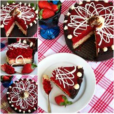 DIY Red Velvet Cheesecake - http://cakesmania.net/diy-red-velvet-cheesecake/