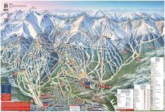 Published in 2018 at Breckenridge Ski Resort Map Canvas, Canvas Poster, Poster Prints, Posters, Breckenridge Ski Resort, Snowboarding, Skiing, Trail Maps, Display