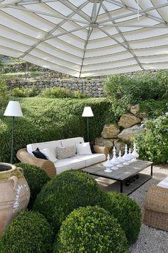Terrassengarten mit tollem Design