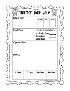 """If you are looking for a way to practice place value each day, this is the """"purrfect"""" product for you!"""
