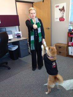 Draco Malfoy turns Ron Weasley into an adorable Shiba Inu. Draco Malfoy Costume, Ron Weasley, Shiba Inu, I Love Dogs, Beautiful Creatures, Happy Halloween, Cute Pictures, Angels, Cute Animals