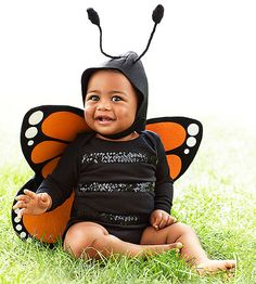 Dress-up will be a flutter of fun with this winged outfit seen on the cover of American Baby.