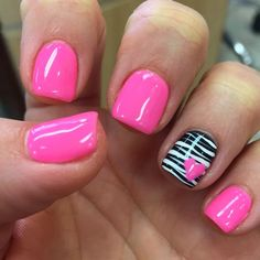 Gel mani shellac zebra pink Valentine nails polish February We are want to say t. - Gel mani shellac zebra pink Valentine nails polish February We are want to say thanks if you like t - Simple Gel Nails, Pink Gel Nails, Pink Nail Polish, Gel Nail Art, Toe Nails, Purple Nail, Nail Nail, Coffin Nails, Gel Polish