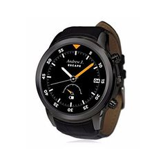 """VANCCA X5 Smart Watch Phone 1.4"""" AMOLED Android MTK6572 NANO SIM Dual Core 3G RAM 512MB ROM 4G WiFi Bluetooth WCDMA GPS HeartRate Monitor For iOS Android(Black). FAST SHIPPING:Fast and free shipping with Fedex/UPS/DHL/PostNL/Singapore Post to reach you in 7-15 days. WIFI/SIM/APP DOWNLOAD: Connect WiFi/3G to download Weather/Google/Facebook/Whatsapp/Skype/Music/Email/News/Map whatever APP you like. It can used as a mobile phone with NANO SIM card,no problem to make a call or edit and send..."""