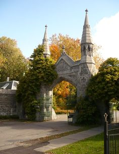 Gates, Mount Royal Cemetery Where Auntie and Uncle; Nanny & Papa