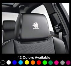 x6 SKODA Logo  Motorsport Headrest Car Seat Decals Stickers