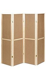 4 Panel Pegboard Displays  Color: Natural Finish  Dimensions: 5'H $64.50 This could be painted up really cute. -khh