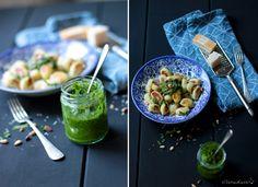 Bärlauch Pesto - homemade Gnocchi #food #foodlove http://elbmadame.de/gnocchi-baerlauch-pesto/
