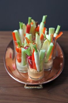 Easy Party Appetizer! Healthy appetizer option, too! Perfect for a viewing party for the Golden Globes don't you think?