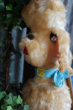 1960s Retro Stuffed Poodle Fair Prize Toy by RoyalRabbitDesigns, $15.00