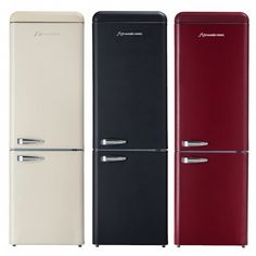 stylish black schaub lorenz refrigerator with built in. Black Bedroom Furniture Sets. Home Design Ideas
