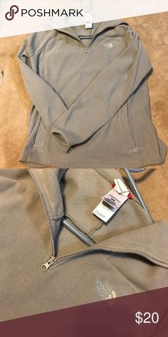 Gray north face fleece Has been worn but still good condition, no flaws PRICE FIRM The North Face Tops Sweatshirts & Hoodies