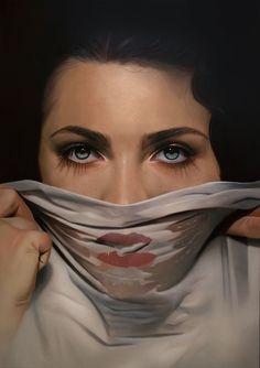 Hyperrealism Meets Surrealism in Mike Dargas' Seductive Portraits Vincent Van Gogh, Hyperrealism Paintings, Hyperrealistic Art, Dimitra Milan, Realism Artists, Realistic Oil Painting, Art Folder, Oil Portrait, Artist Art
