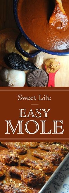 Back to School Easy Mole by Bonnie Rodriguez makes 6 cups 4 dried ancho chiles 2 cups chicken stock 3 corn tortillas baked or fried 2 medium onion diced 3 garlic cloves m. Mole Poblano Recipe, Chicken Mole Recipe, Mole Recipe Peanut Butter, Mexican Dishes, Mexican Food Recipes, Spanish Recipes, Mexican Mole Sauce, Peanut Recipes, The Best